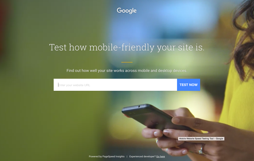 Test your site for free with Google