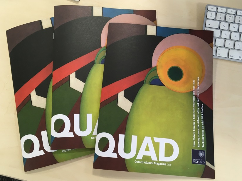 Proudly presenting QUAD, the University of Oxford's new Alumni Magazine